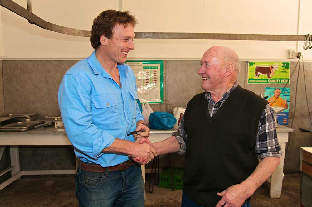 Sam and Max Donohoe in 2010 in the change of ownership of the shop which Max's family had owned and operated since 1926